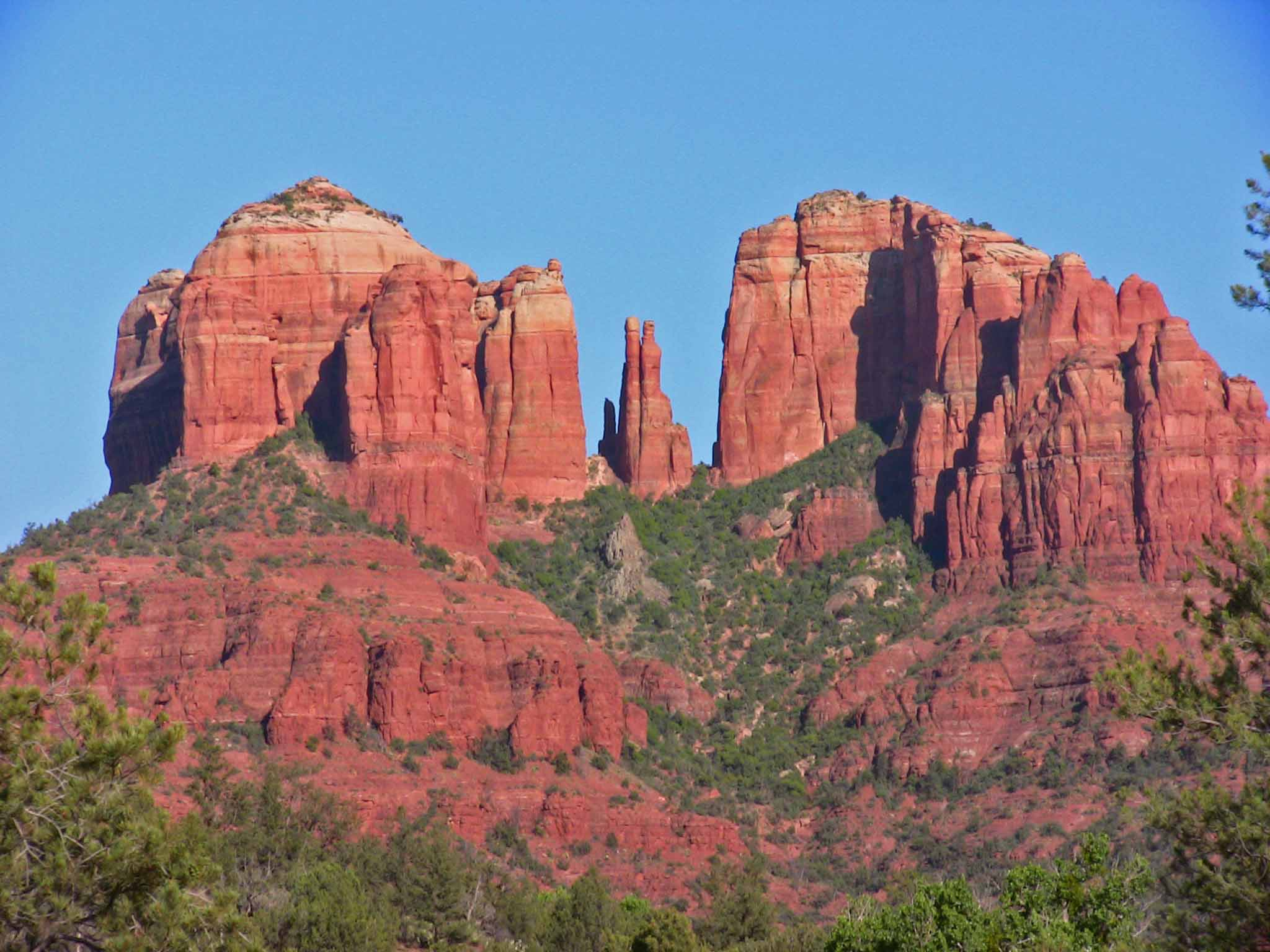Cathedral rock from upper red rock loop road note lava for The sedona
